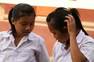 To flotte ungdomsskoleelever som vi har fulgt hvert år fra de begynte på barneskolen