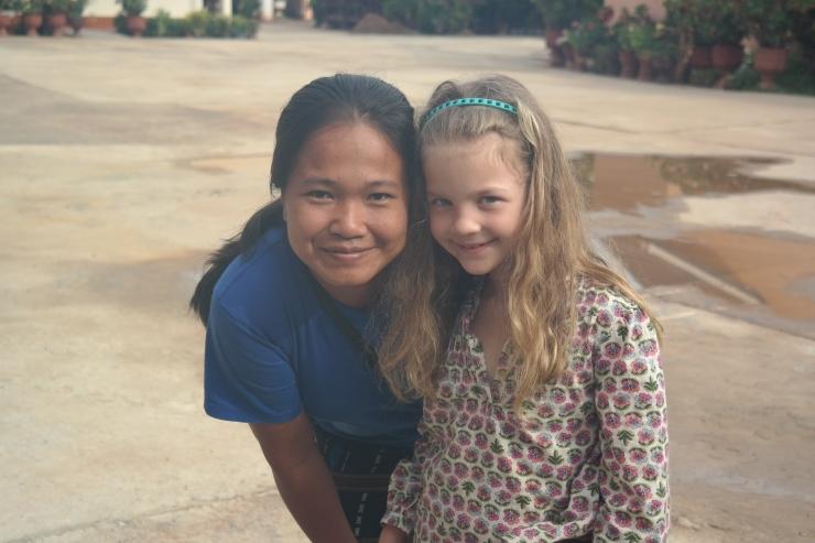 Nid i staben og Ane ble veldig gode venner på denne turen
