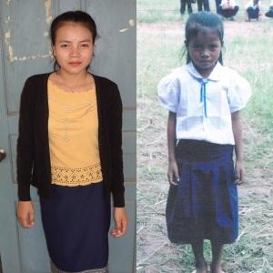 Dette er Phimpon som fra når vi møtte henne, og fra første gang vi møtte henne i 2002.